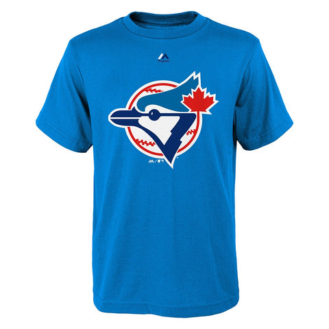Toronto Blue Jays Majestic MLB Youth Blue Cooperstown Official Logo T-Shirt