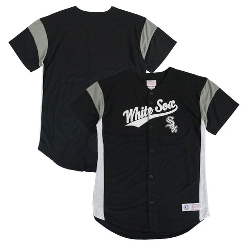 Chicago White Sox MLB Team Logo Black Full Button Down  Jersey Youth Size (S-XL)