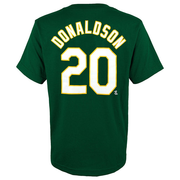 Josh Donaldson MLB Oakland Athletics Player Jersey Green T-Shirt Youth (XS-2XL)