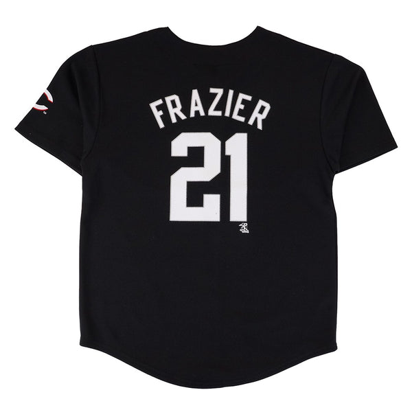 Todd Frazier MLB Cincinnati Reds Player Black Button Down Jersey Youth (XS-2XL)