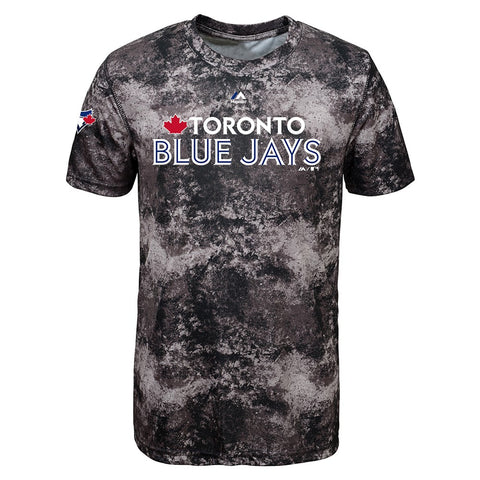 Toronto Blue Jays Majestic MLB Youth Grey Sublimated Cool Base T-Shirt