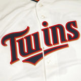 Torii Hunter Minnesota Twins MLB YOUTH White Home Cool Base Replica Jersey