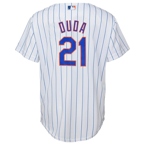 Lucas Duda MLB Majestic New York Mets Cool Base Home Jersey Youth (S-XL)