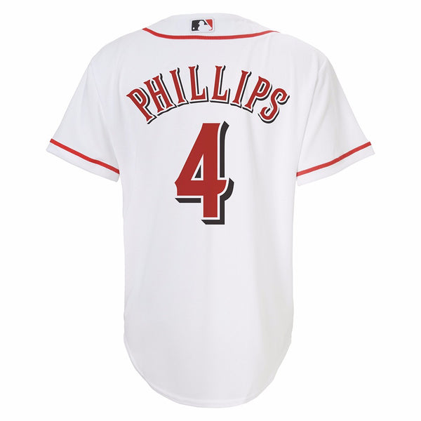 Brandon Phillips Cincinnati Reds MLB Majestic YOUTH White Home Cool Base Jersey