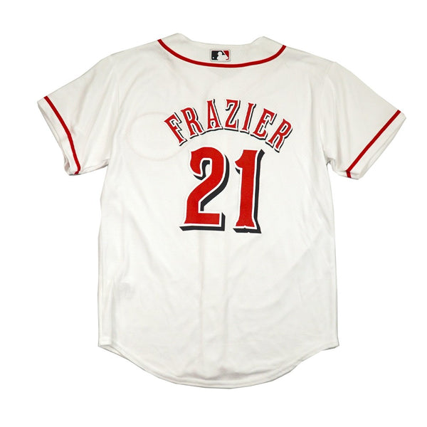 Todd Frazier Cincinnati Reds MLB Majestic YOUTH White Home Cool Base Jersey