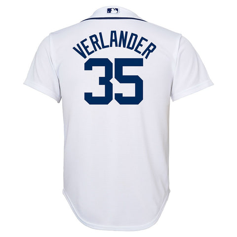 Justin Verlander MLB Majestic Detroit Tigers Cool Base Home Jersey Youth (S-XL)