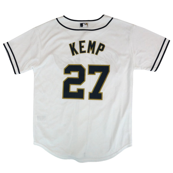 Matt Kemp MLB Majestic San Diego Padres Home Cool Base White Jersey Youth (S-XL)