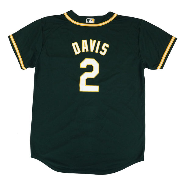 Rajai Davis MLB Majestic Oakland Athletics Alternate Cool Base Jersey Youth S-XL