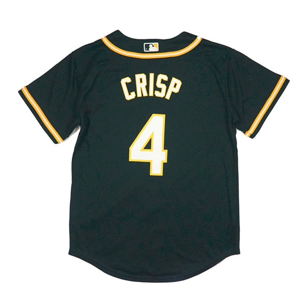 Coco Crisp Oakland Athletics MLB Majestic YOUTH Green Cool Base Replica Jersey