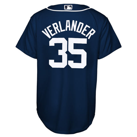 Justin Verlander MLB Majestic Detroit Tigers Cool Base Alt Jersey Youth (S-XL)