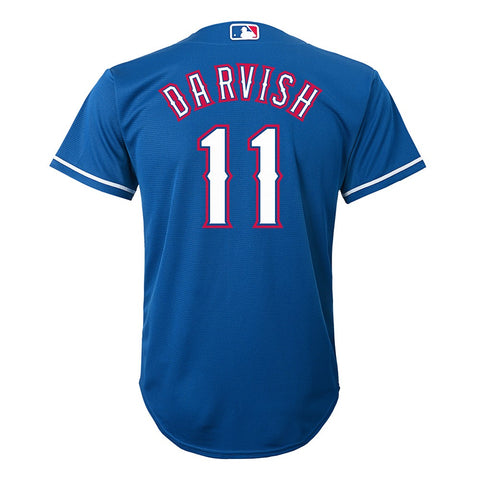 Yu Darvish MLB Majestic Texas Rangers Cool Base Alt Blue Jersey Youth (S-XL)