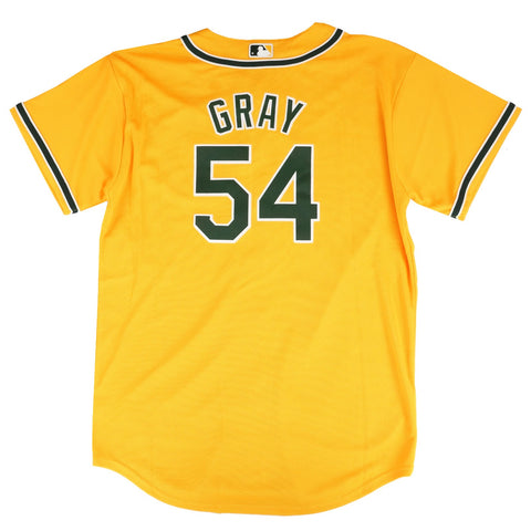 Sonny Gray MLB Majestic Oakland Athletics Alt Gold Cool Base Jersey Youth (S-XL)