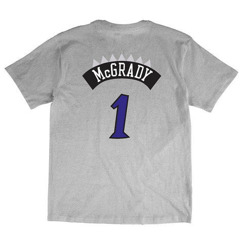 Tracy McGrady Toronto Raptors NBA Mitchell & Ness Grey Hardwood Classics Shirt