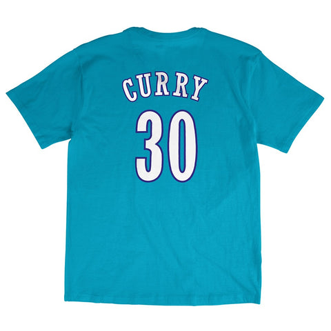 Dell Curry Charlotte Hornets NBA Mitchell & Ness Teal Hardwood Classics Shirt