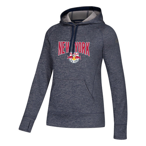 New York Red Bulls MLS Adidas Women's Grey ClimaWarm Team Issue Hoodie