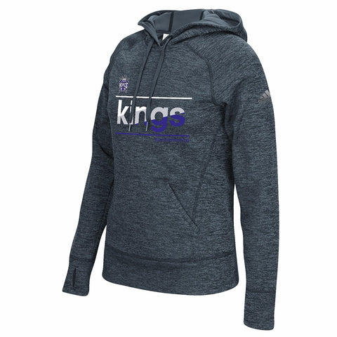Sacramento Kings NBA Women's Grey Color Slant Climawarm Pullover Hoodie