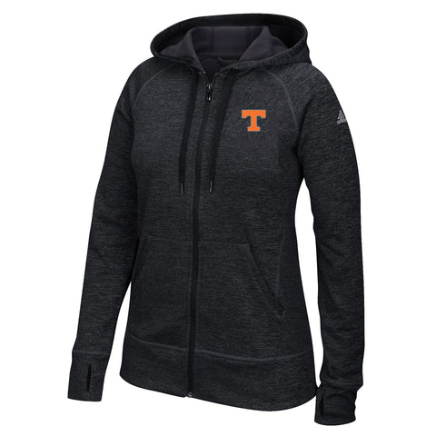 Tennessee Volunteers NCAA Adidas Women's Black Full-Zip Fleece Hoodie