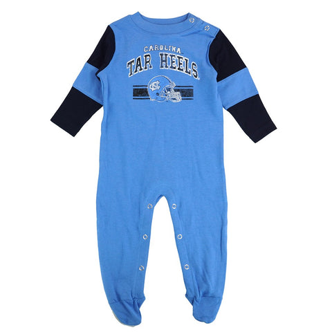 "North Carolina Tar Heels NCAA Newborn Blue ""Team Believer"" Long Sleeve Coverall"