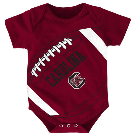 "South Carolina Gamecocks NCAA Newborn Maroon ""Fanatic"" Football Creeper"