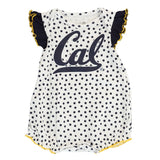 "California Golden Bears NCAA Newborn Navy/White ""Polka Fan"" 2 Piece Creeper Set"