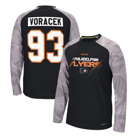 Jakub Voracek Reebok Philadelphia Flyers PlayDry Long Sleeve T-Shirt Men's