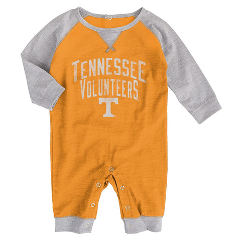 "Tennessee Volunteers NCAA Newborn Orange ""Proud Fan"" Long Sleeve Romper"