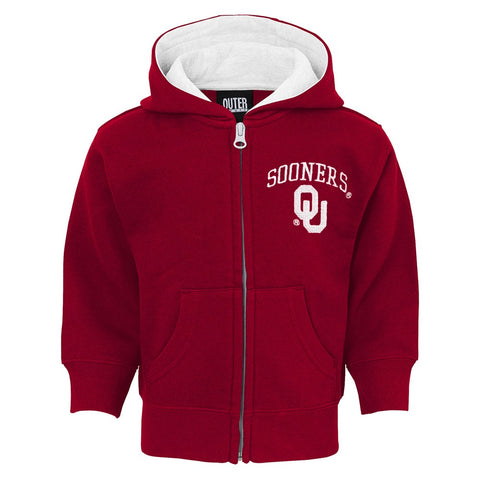 "Oklahoma Sooners NCAA Red ""Pledge"" Team Logo Full Zip Hoodie Infant (12M-24M)"