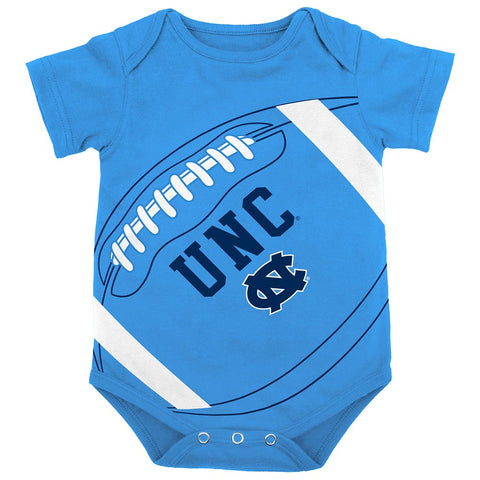"North Carolina Tar Heels NCAA Infant Light Blue ""Fanatic"" Football Creeper"