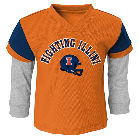 "Illinois Fighting Illini Infant's Orange ""Charger"" Long Sleeve Shirt & Pants Set"