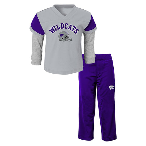Kansas State Wildcats NCAA Grey Long Sleeve T-Shirt & Pants Set Infant (12M-24M)