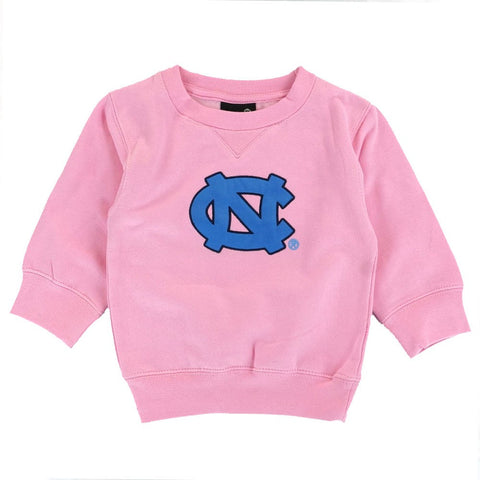 North Carolina UNC Tar Heels Pink Girls Crewneck Sweatshirt Infant 12-24 Months