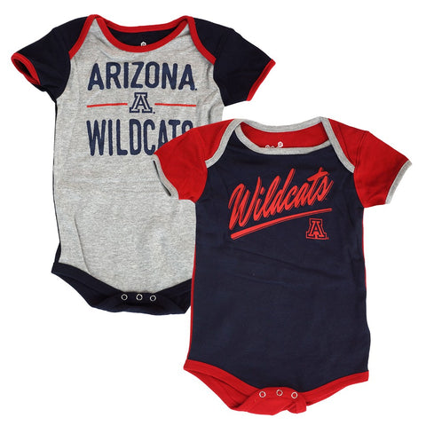 "Arizona Wildcats NCAA Infant Navy/Red ""Descendant"" 2 Piece Creeper Set"