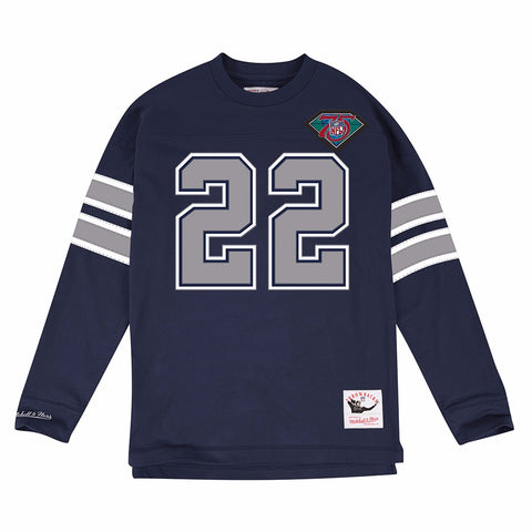 Emmitt Smith Dallas Cowboys Mitchell & Ness Jersey Inspired N& N Longsleeve Knit