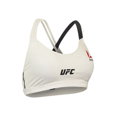 Reebok UFC Women's Chalk White Speedwick Performance Fight Bra 2 AH4037
