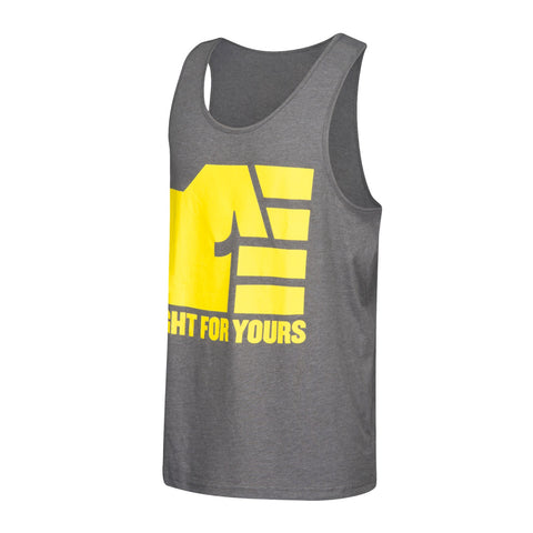 "Reebok UFC Men's Grey ""Fight For Yours"" UFAN Tank Top AO2326"