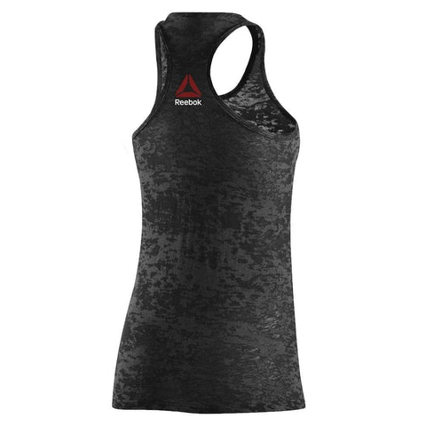 Reebok UFC Women's Black UFAN Tri-Blend Tank Top AH9311