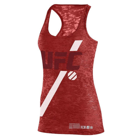 Reebok UFC Women's Red UFAN Tri-Blend Tank Top AI4147