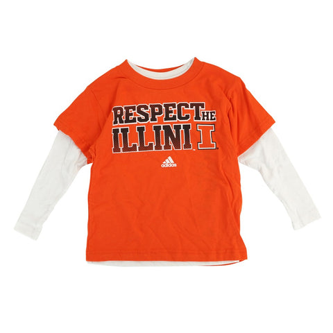 "Illinois Fighting Illini Toddler Orange/White 3 in 1 Combo ""Respect"" T-Shirt Set"