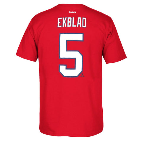 Aaron Ekblad Reebok Florida Panthers Premier Player Jersey Red T-Shirt Men's