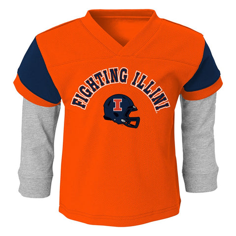 Illinois Fighting Illini NCAA Orange T-Shirt & Pants Set Toddler (2T-4T)
