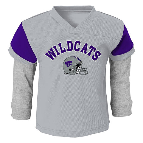 Kansas State Wildcats NCAA Grey Long Sleeve T-Shirt & Pants Set Toddler (2T-4T)