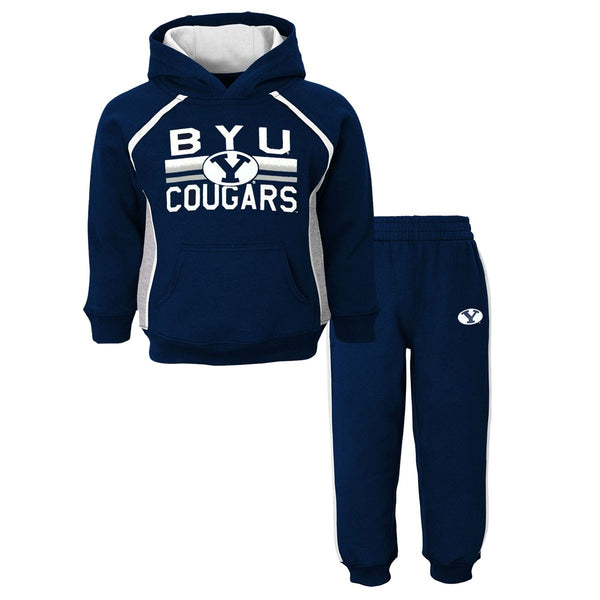 "BYU Cougars NCAA ""Classic Fan"" Pullover Hoodie & Pants (2) Piece Set Boys (4-7)"