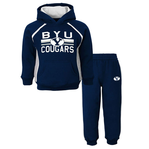 "BYU Cougars NCAA ""Classic Fan"" Pullover Hoodie & Pants (2) Piece Set Toddler"
