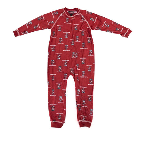 Wisconsin Badgers NCAA Full Zip Raglan All Over Print Coverall Toddler (2T-4T)