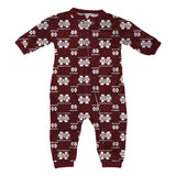 "Mississippi State Bulldogs NCAA Full Zip Raglan ""AOP"" Coverall Toddler (2T-4T)"