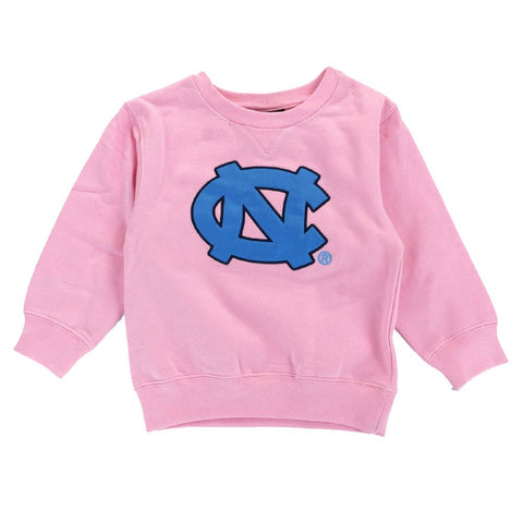 North Carolina UNC Tar Heels Pink Girls Crewneck Sweatshirt Toddler (2T-4T)