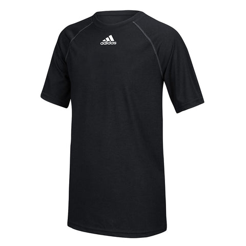 Adidas Youth Black Badge of Sport Climalite Performance T-Shirt