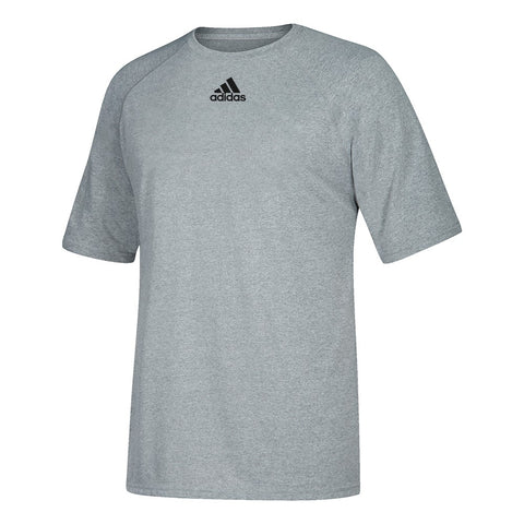 Adidas Youth Grey Badge of Sport Climalite Performance T-Shirt