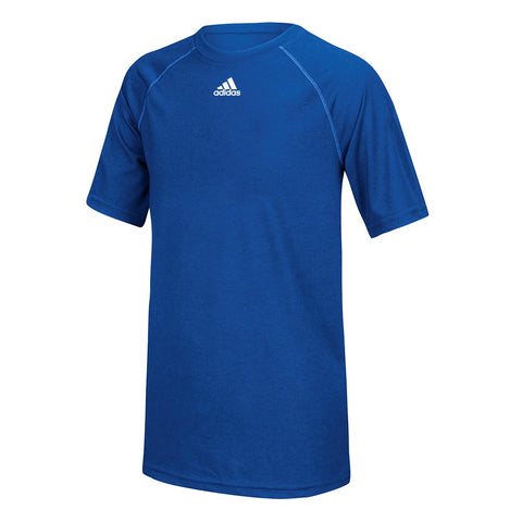 Adidas Youth Blue Badge of Sport Climalite Performance T-Shirt