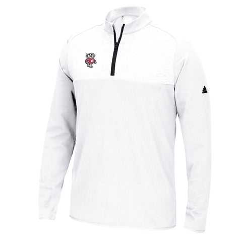 Wisconsin Badgers NCAA Adidas Men's Adi Golf White Fashion Pullover Jacket